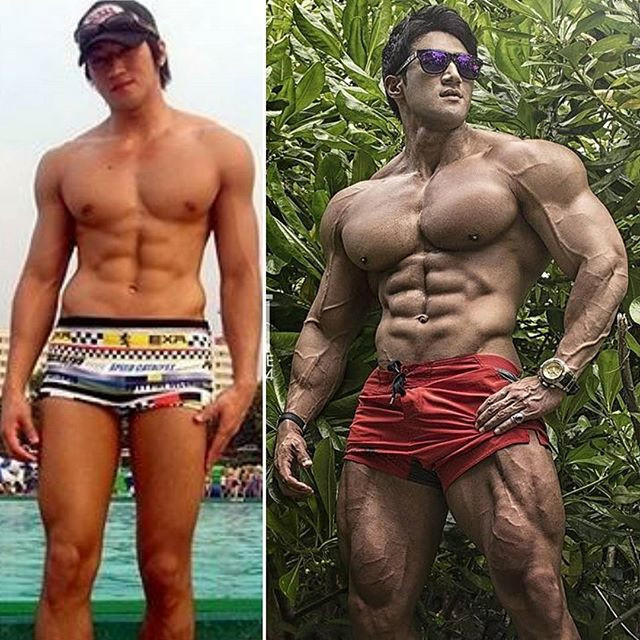 Asia's No.1 muscle latitude male many beautiful women around